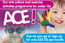 ACE children's activities with South Lanarkshire Leisure and Culture