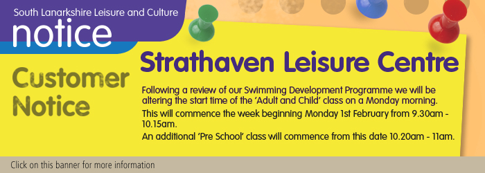Swimming Development at Strathaven Leisure Centre