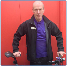Davy McElwee member of staff at South Lanarkshire Leisure and Culture