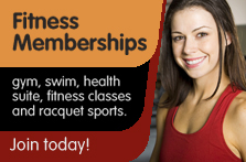Fitness membership, gym, swim, health suite, fitness classes and racquet sports. Join today!
