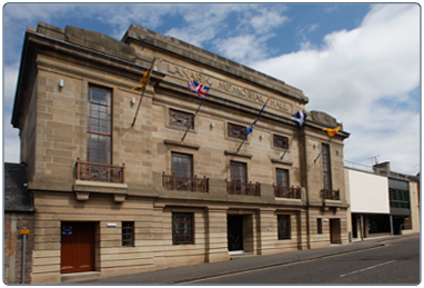 Lanark Memorial Hall, South Lanarkshire Leisure and Culture.