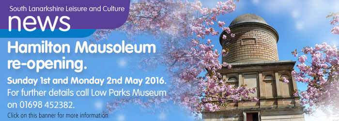 Mausoleum open 1st and 2nd May 2016