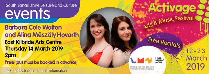 Barbara Cole Walton and Alina Meszoly Hovarth, East Kilbride Arts Centre