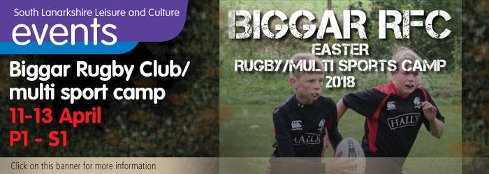 Biggar Rugby Club, Easter, sport, activities, children, multi sport camp, Biggar, South Lanarkshire,