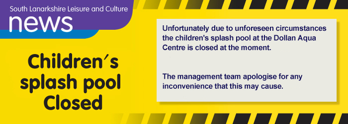 Children's pool at Dollan Aqua centre closed