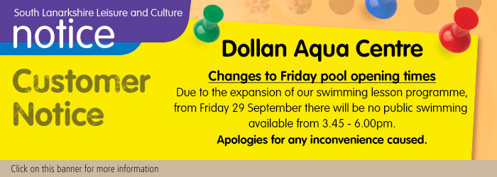 Dollan Aqua Centre Customer Notice