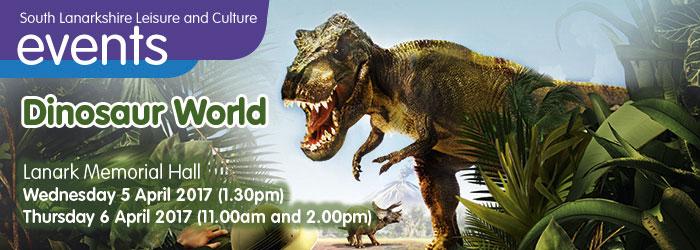 Dinosaur World at Lanark Memorial Hall, South Lanarkshire