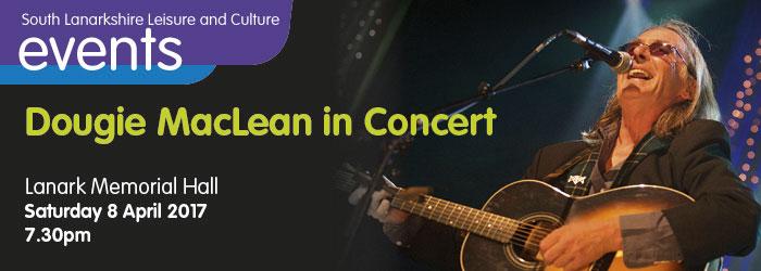 Dougie MacLean in Concert at Lanark Memorial Hall, South Lanarkshire