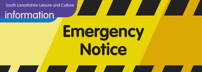 Temporary pool closure at Coalburn