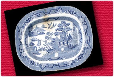 Willow Pattern Ashet