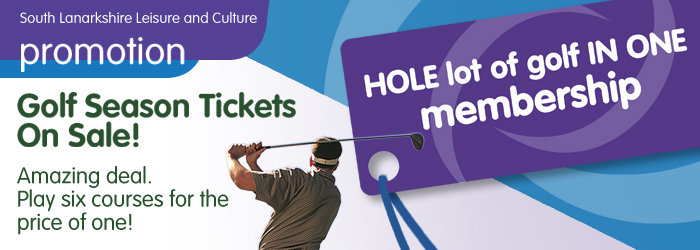 South Lanarkshire Leisure and culture Golf Season Tickets On Sale!  Six courses for the price of one!