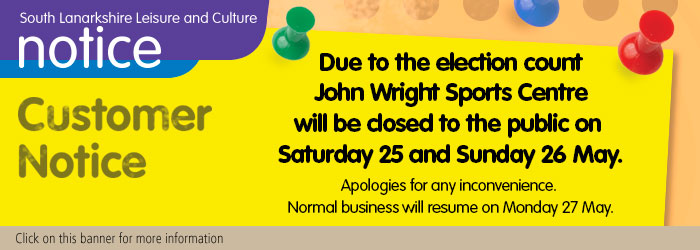 John Wright Sports Centre closed for election count