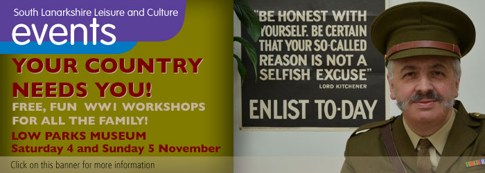 Your Country Needs You! - Free workshops