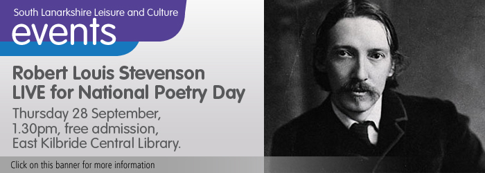 Robert Louis Stevenson LIVE for National Poetry Day