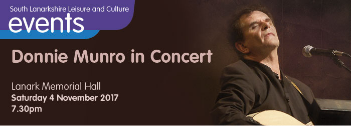 Donnie Munro in Concert, Lanark Memorial Hall, Lanark, South Lanarkshire,