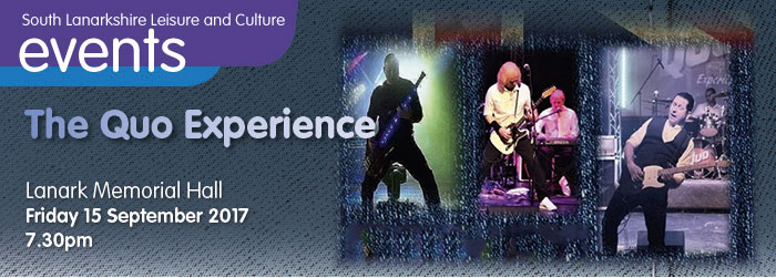 The Quo Experience, Lanark Memorial Hall, Lanark, South Lanarkshire,
