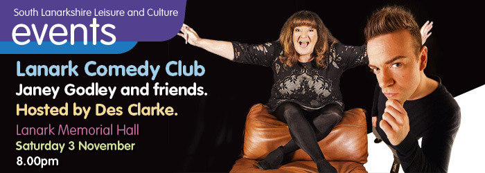 Lanark Comedy Club - Janey Godley and friends
