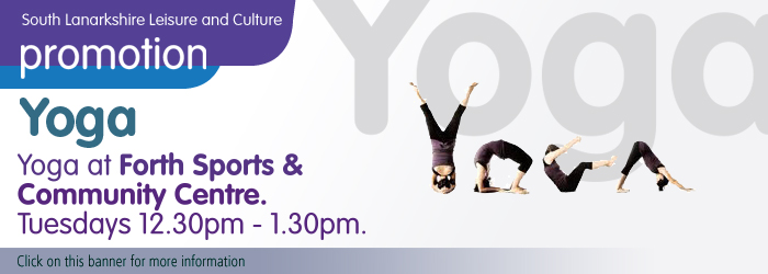 Yoga at Forth Sports and Community Centre, South Lanarkshire