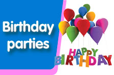 Link to children's birthday parties web page