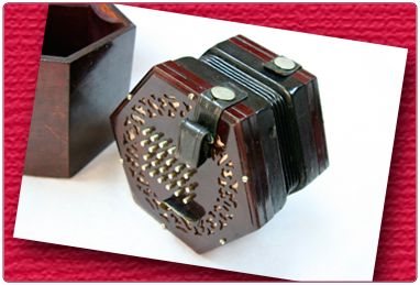 English concertina made by Lachenal c 1925