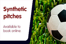 Synthetic pitches available to book