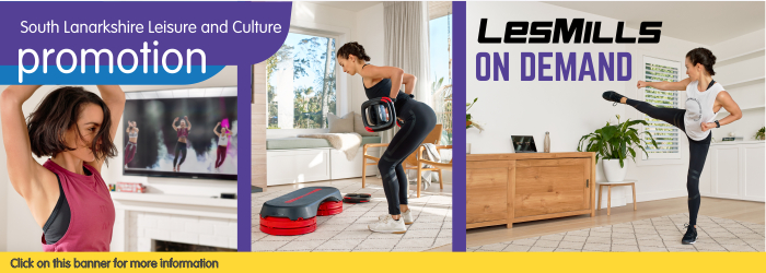 LES MILLS On Demand Offer with South Lanarkshire Leisure and Culture Slider image