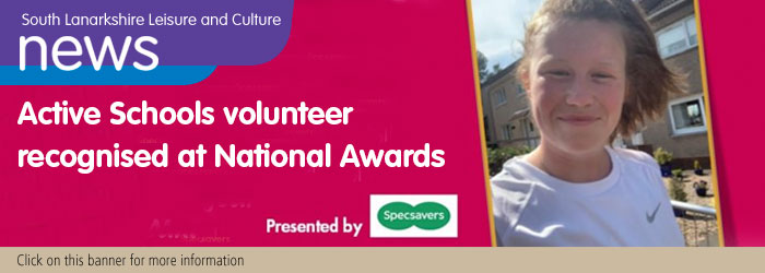 Active Schools Volunteer Recognised at National Awards