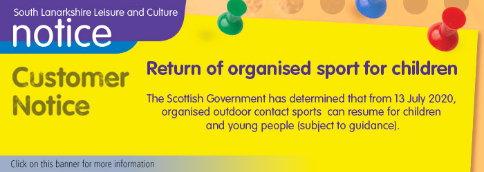 Return of organised contact sport for children
