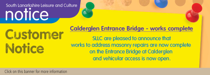 Entrance bridge at Calderglen now open for vehicular access