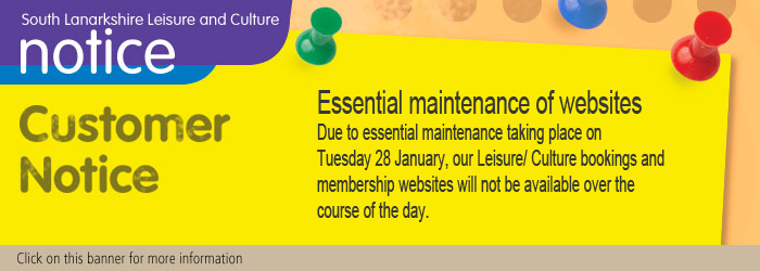 Due to essential maintenance taking place on Tuesday 28 January, our bookings and membership websites will not be available. Slider image