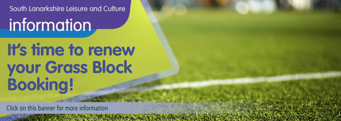 Renew your grass block booking with South Lanarkshire Leisure and Culture Slider image
