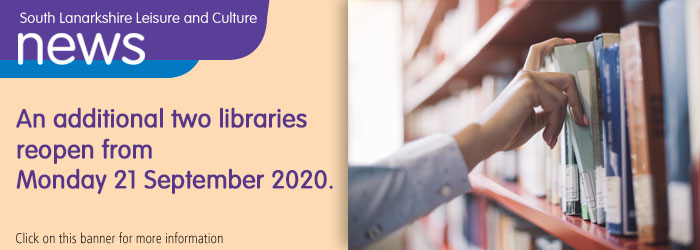 Two more libraries to reopen on 21 September! Slider image
