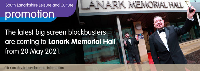 Latest blockbusters coming to Lanark Memorial Hall