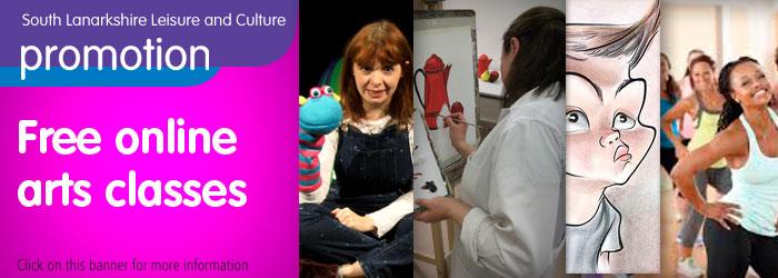 Free online arts classes Slider image