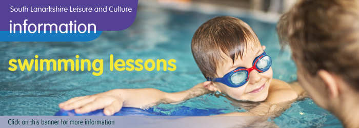 Swimming lessons with South Lanarkshire Leisure and Culture Slider image