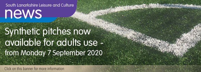Synthetic pitches now available for adult use Slider image