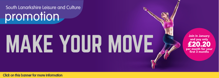 Fitness Membership Offer - Make your move! 30 Dec 2019 - 29 Feb 2020 £20.20 per month for first 3 months Slider image